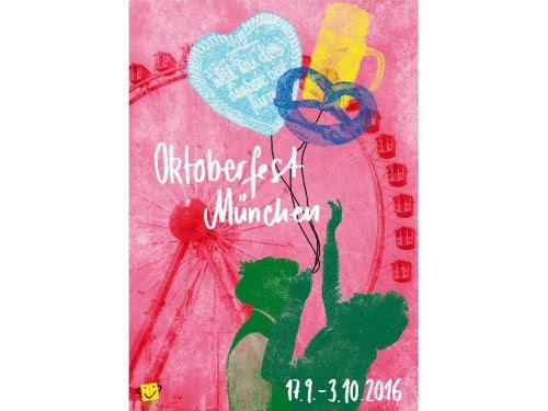 Cartel de Oktoberfest 2016. / Susanna Schneider/ Linda Sophia Schultheis