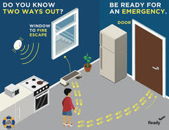 Do You Know Two Ways Out? Be Ready for an Emergency.