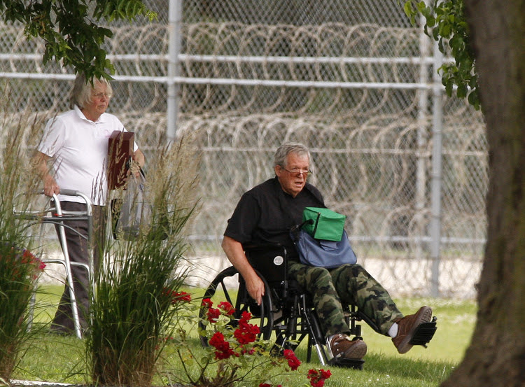 Former Speaker of the House Dennis Hastert reports to the Federal Medical Center in Rochester, Minn., last year. (Andrew Link/The Rochester Post-Bulletin via AP, File)