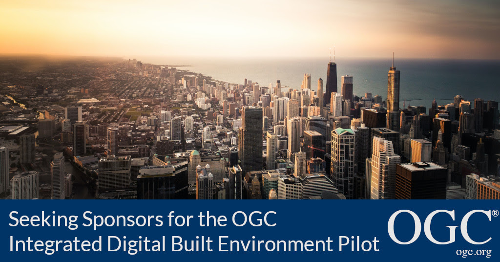banner announcing call for sponsors for ogc and bsi integrated digital built environment pilot