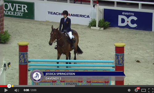 Watch Jessica Springsteen's winning speed round!