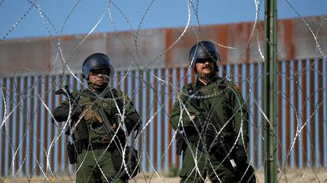 Miembros de la patrulla fronteriza de los EE. UU. en Tijuana, México. 25 de noviembre de 2018.