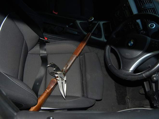 The police were able to seize some dangerous weapons from the gang including a zombie knife. [The Independent]
