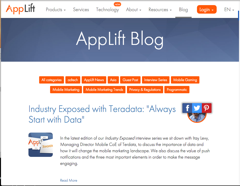 Blog @ applift.com