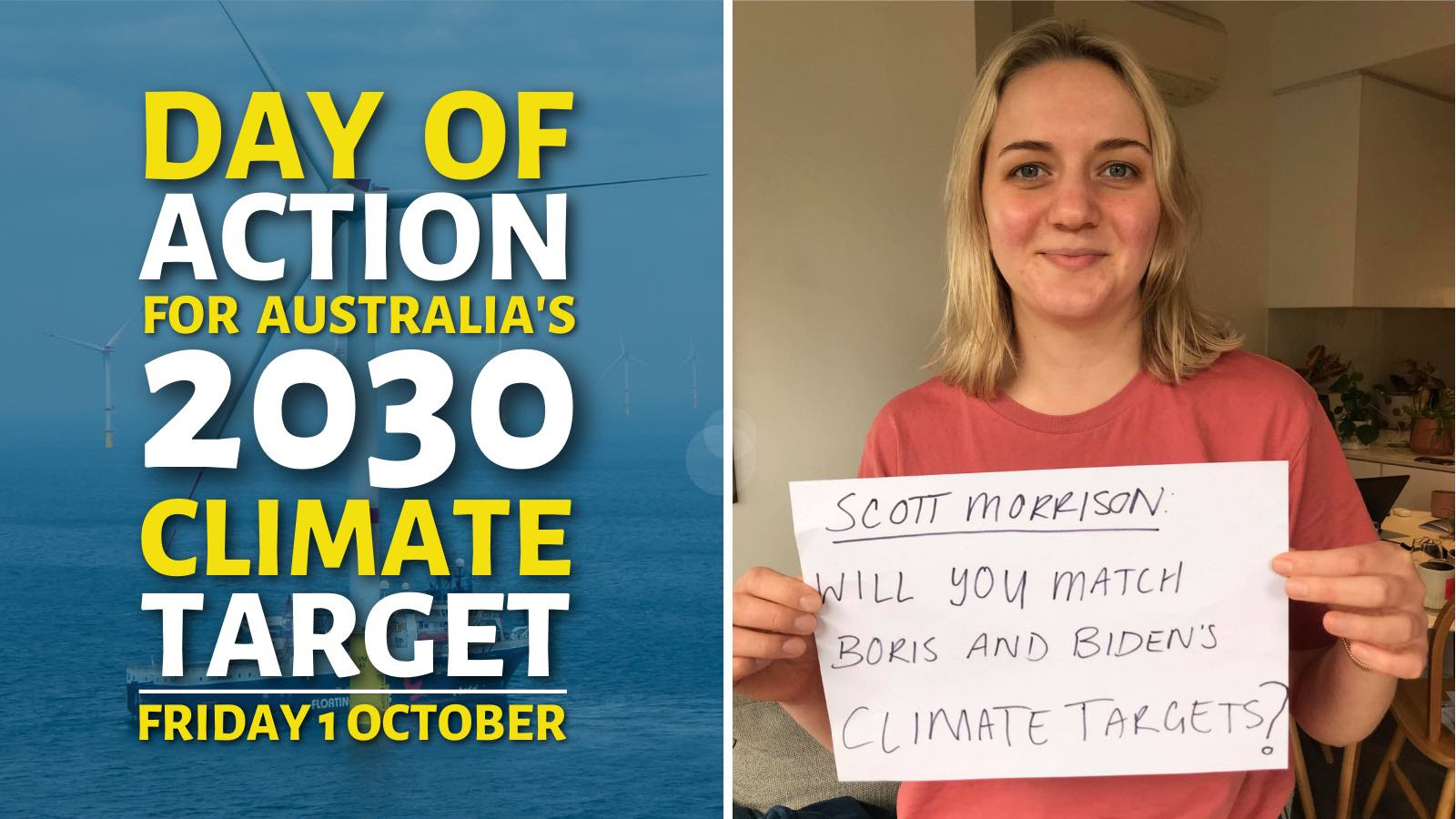 FoE Aust National Day of Action for Australia's 2030 climate  target