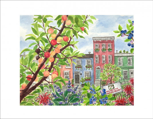Signed orchard print available to event attendees