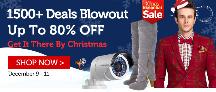 X'mas essentail sale up to 80% off 1500+ deals blowout at LightInTheBox.com