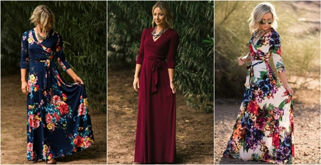 Luxury Maxi Wrap Dress + More!