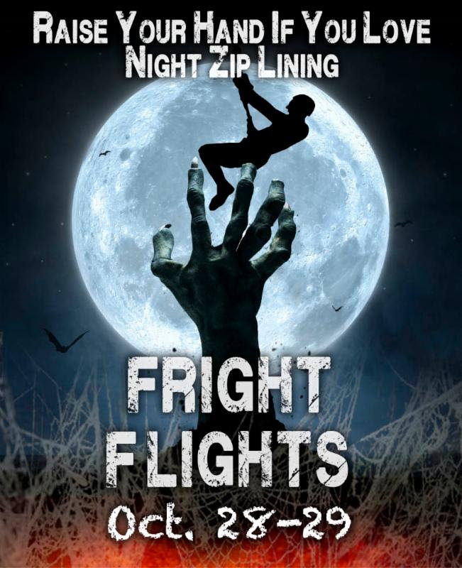 Orlando Tree Trek Fright Flights Halloween 2016
