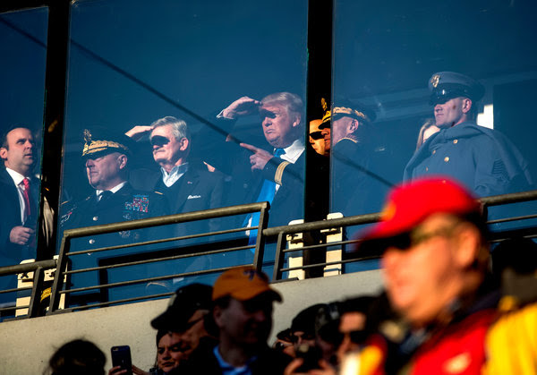 President-elect Donald J. Trump attended the Army-Navy football game in Baltimore on Saturday.