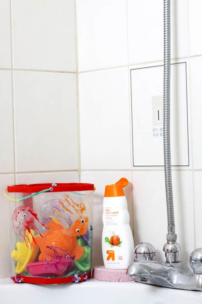 DIY bath organizer   helloglow.co