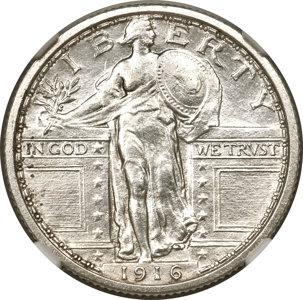 1916 25C Standing Liberty Quarter Dollar, Judd-1989, formerly Judd-1795, Pollock-2050, R.8, PR61 NGC