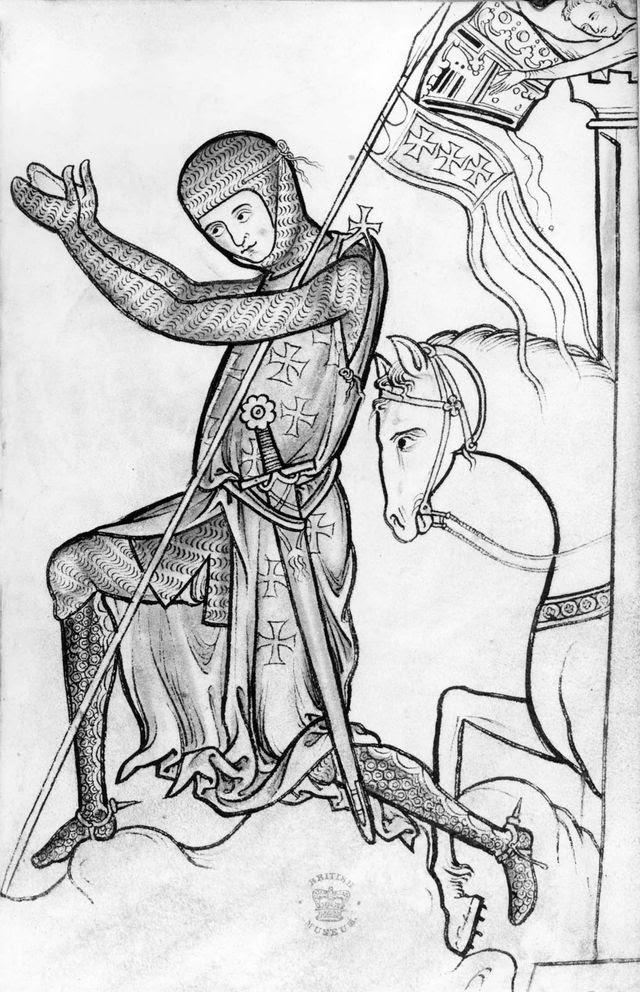 Crusader in iron mail.