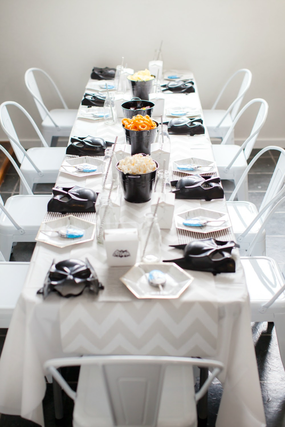 Pop Roc Parties Blog | Beau's Batman Party Kids Table