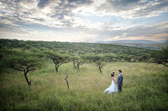 #South #Africa #Field Nature preserve wedding