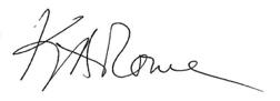 Katherine Rowe signature