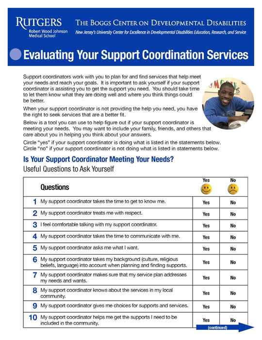 Tool for Evaluating Support Coordination Services cover