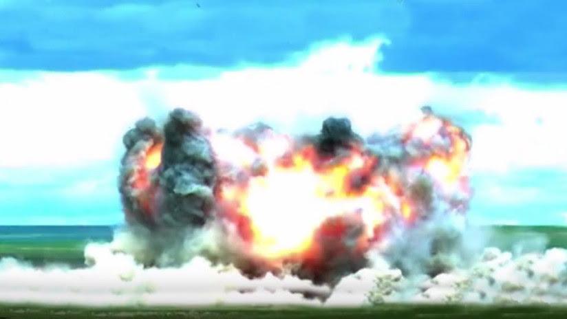 VIDEO, FOTO: China muestra su versión de la 'Madre de todas las bombas'