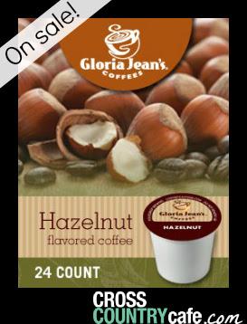 Gloria Jeans Hazelnut Keurig K-cup coffee