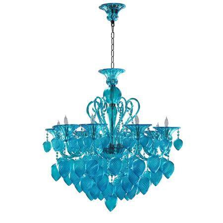 Shades of Light aqua Murano Glass Chandelier