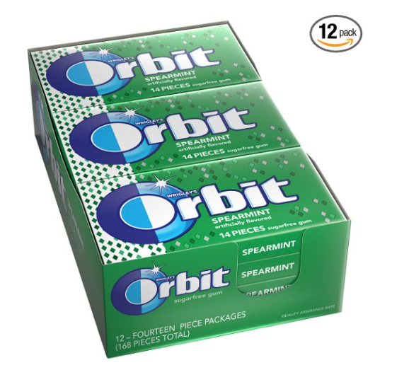 Orbit Spearmint Gum 33¢ per Pa...