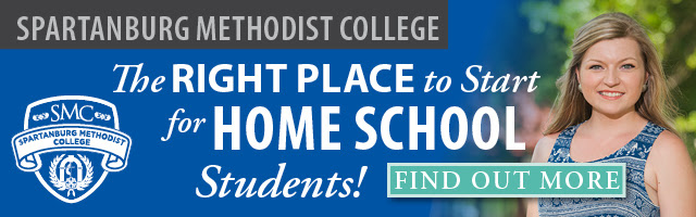 Ad: Spartanburg Methodist College is The Right Place to Start for Home School Students!