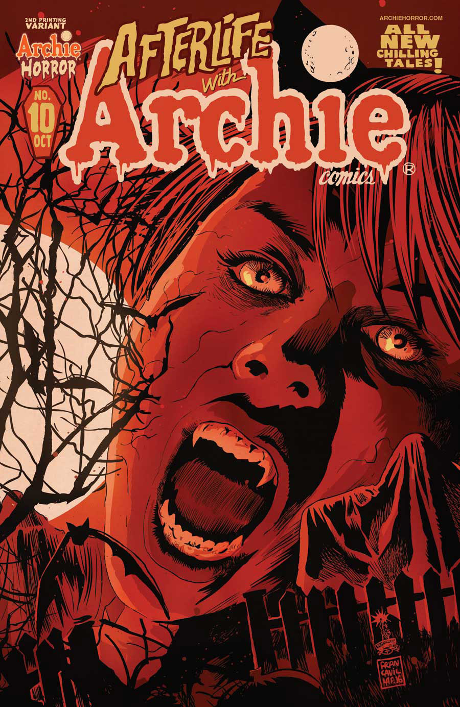 Afterlife With Archie #10 2nd Printing Cover
