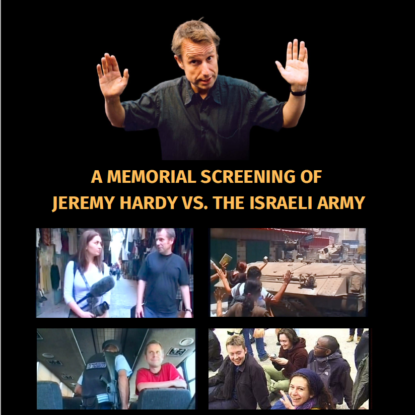 A memorial screening of Jeremy Hardy vs the Israeli Army