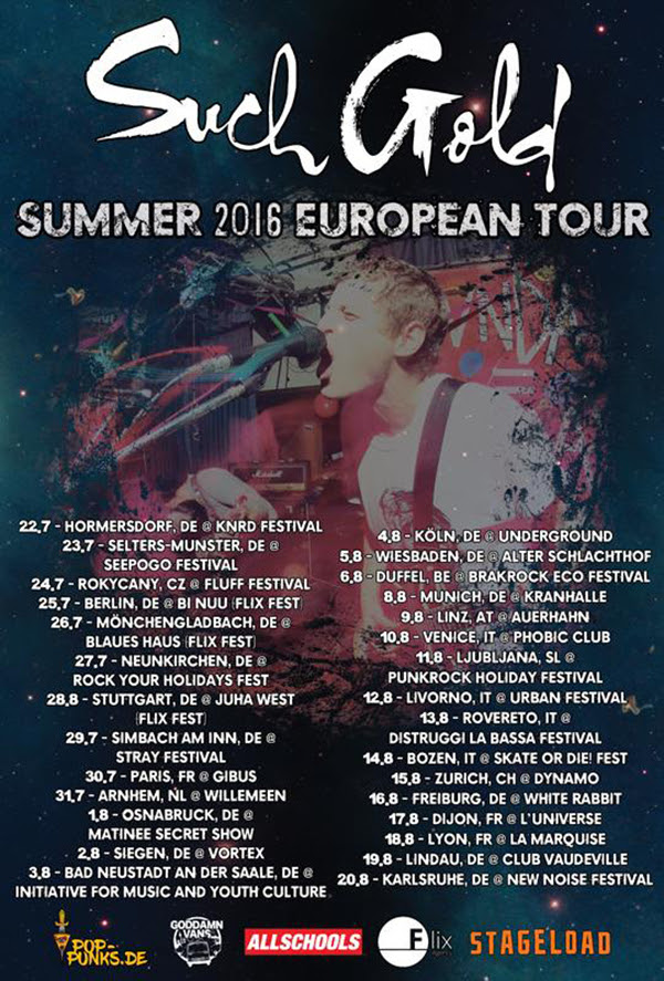 Such Gold European Tour 2016