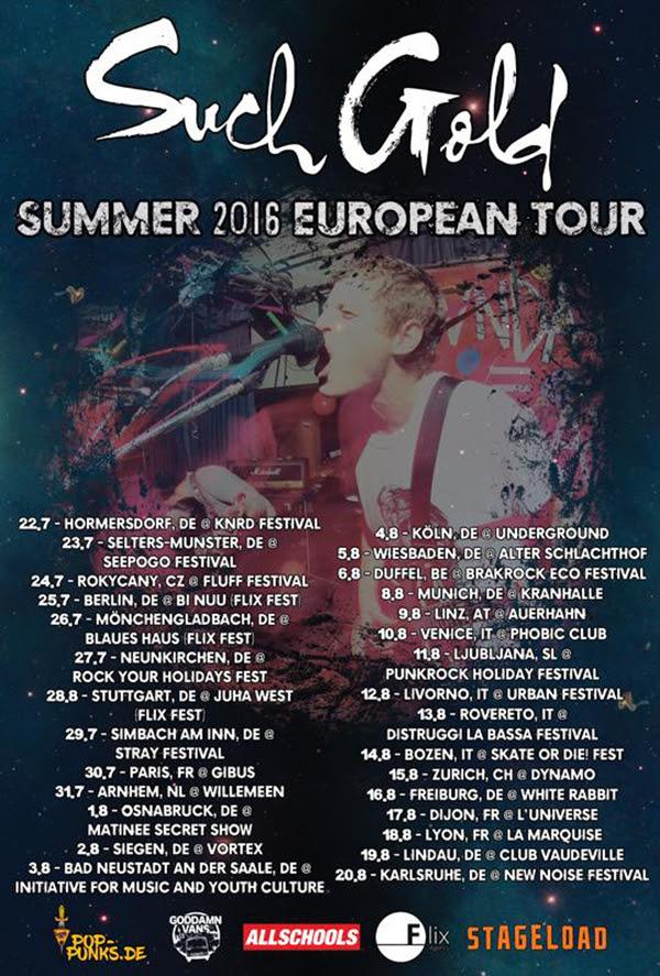 Such Gold European Tour 2016