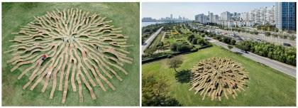 """Artesanía Bejarano 0280-intro-1 """"Root Bench"""", mobiliario urbano en Corea del Sur. Ingenioso laberinto circular demadera. Noticias"""