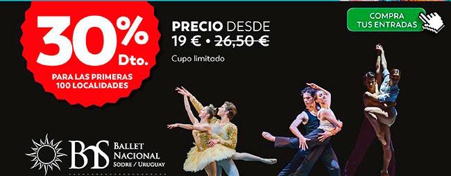 30% dto. Desde 19€ Compra tus entradas. Ballet Nacional Sodre / Uruguay