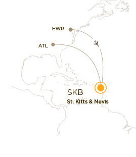 direct flights to St. Kitts from Atlanta and Newark