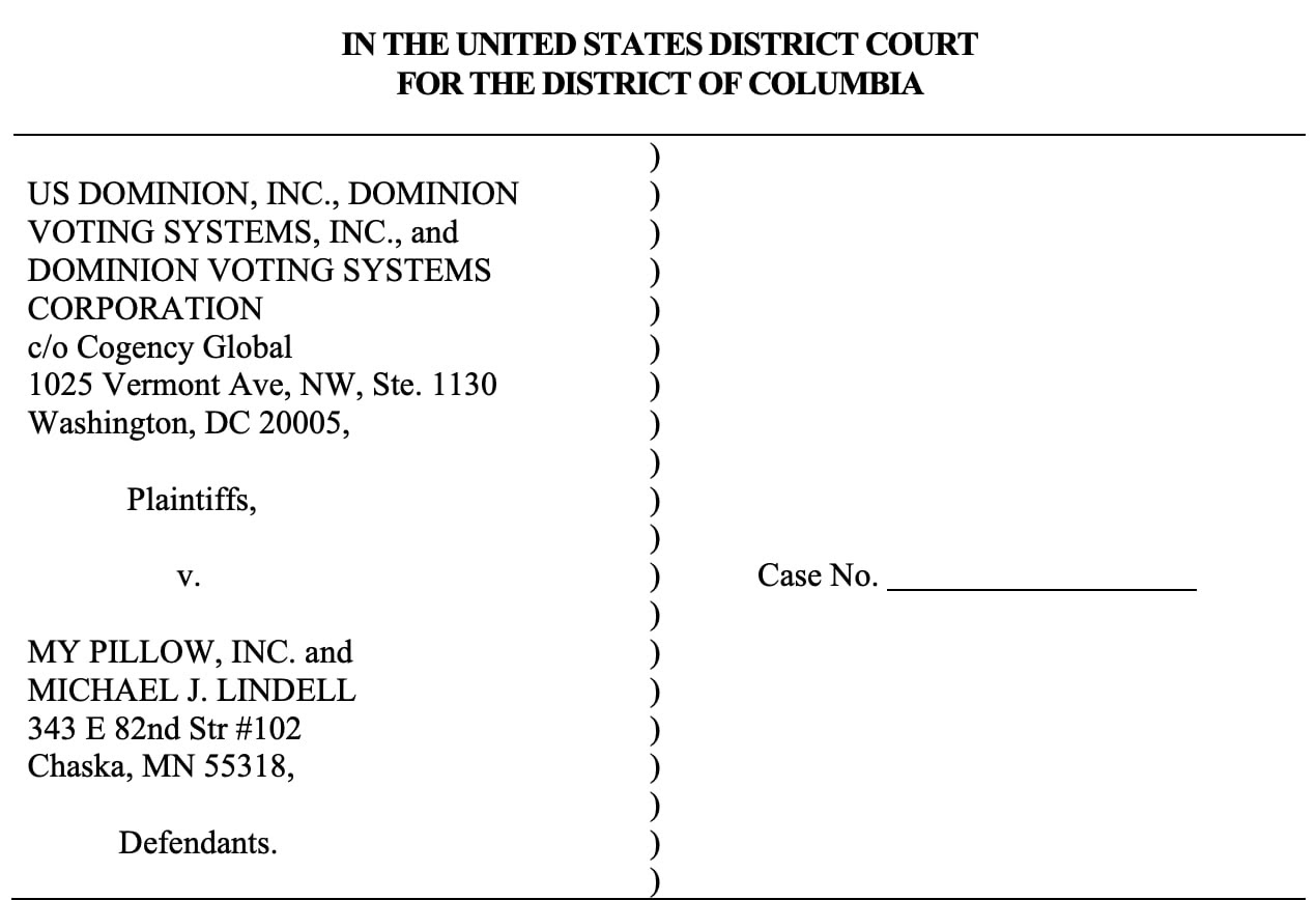 Dominion Voting Systems Sues Mike Lindell for $1.3 Billion Lindell-dominion-