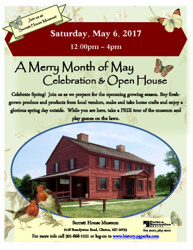 A Merry Month of May Celebration & Open House @ Surratt House Museum | Clinton | Maryland | United States