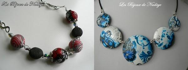bijoux pâte polymère collier créatrice