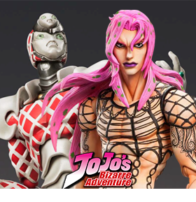 JOJO SUPER ACTION STATUE DIAVOLO & KING CRIMSON
