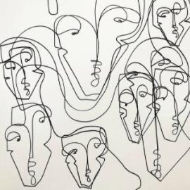 Rostos arredondados em rostos por Carly Kuhn