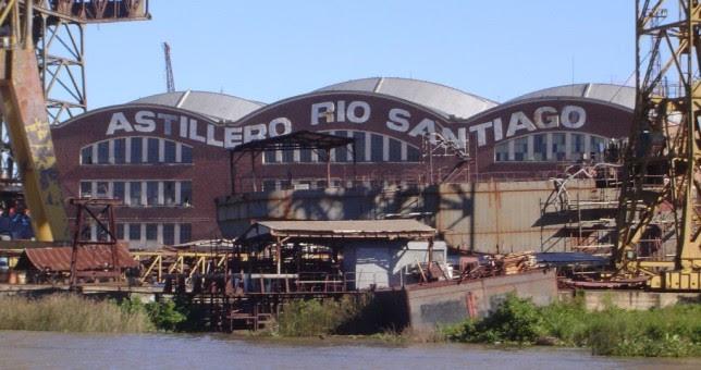 Trabajadores del Astillero Rio Santiago cerraron el año con el 39,3% de aumento