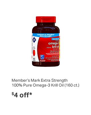 Member's Mark Extra Strength 100% Pure Omega-3 Krill Oil (160 ct.)