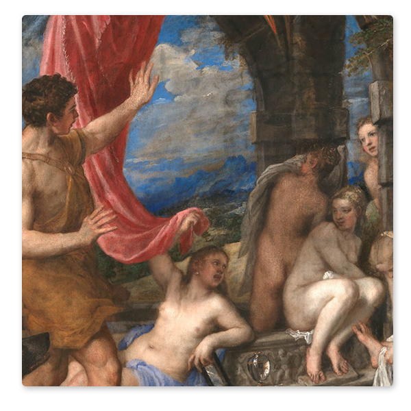 Detail from Titian, 'Diana and Actaeon', 1556-9 ©️ The National Gallery, London