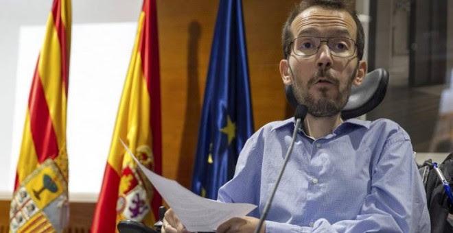 El líder de Podemos en Aragón, Pablo Echenique, en una imagen de archivo. EFE