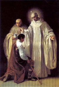 Francisco Goya: Święty Bernard przyjęty do cystersów