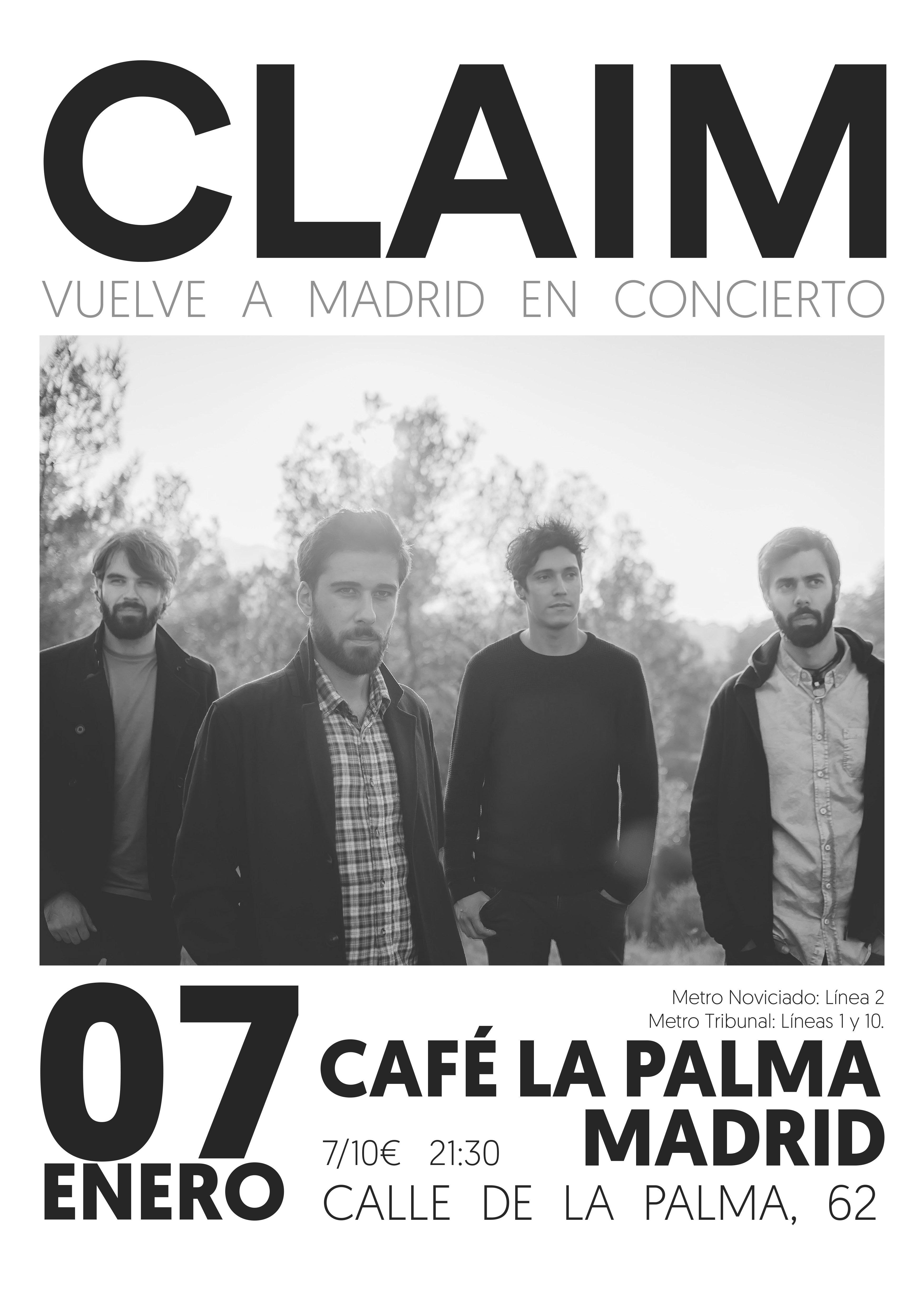 Concierto de Claim en Café la Palma