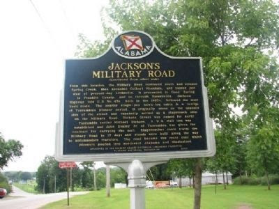 Jackson's Military Road Marker Reverse Side Photo, Click for full size