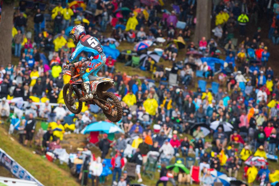 Dungey extended his points lead and his now the winningest rider in Washougal history.Photo: Simon Cudby