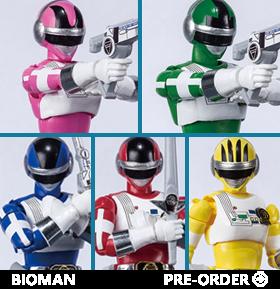 Choudenshi Bioman Shodo Super Box of 5 Figures