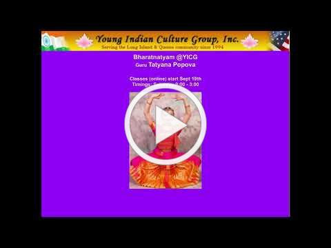 YICG Bharatanatyam Program By Tatyana Popova