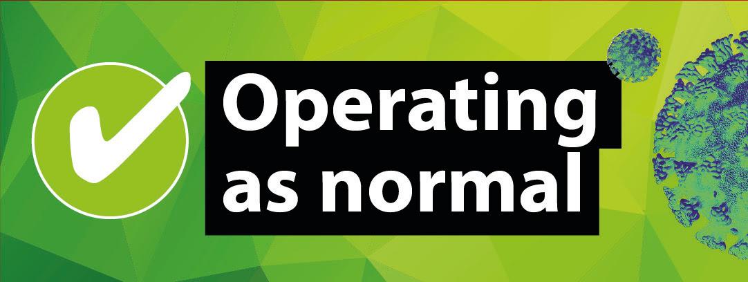 operating as normal corona