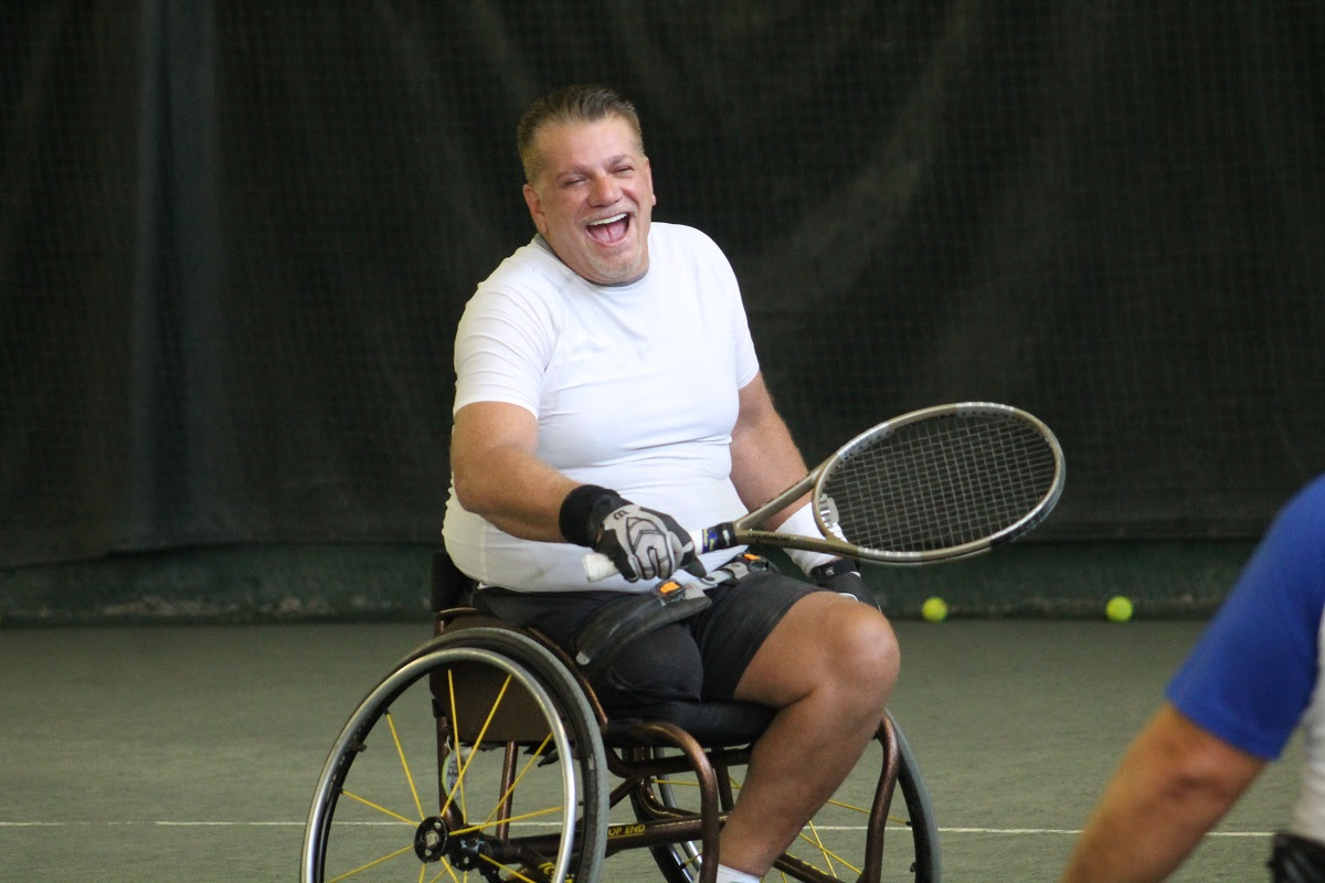A week before the best wheelchair tennis players competed in the annual Jana Hunsaker Memorial Tournament at the USTA Billie Jean King National Tennis Center, some of the tournament's participants took part in a Wheelchair Tennis Exhibition at Old Westbur